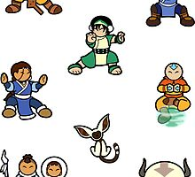ATLA Mini Stickers: Gaang by Joumana Medlej