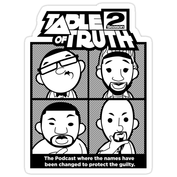 The Table of Truth Faces Logo Sticker by thetableoftruth