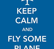 Keep Calm and Fly Some Plane [Sticker] by Skeletree