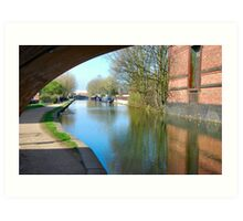 THE CANAL IN LEIGH. UK.  Art Print