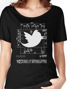 Twitter T Shirt, Bird Logo Dimensions Women's Relaxed Fit T-Shirt