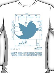 Twitter T Shirt, Bird Construction Dimensions T-Shirt