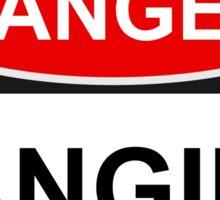 Danger Fangirl - Warning Sign Sticker