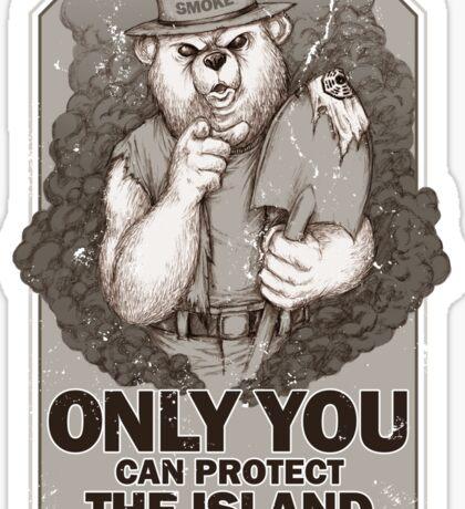 Smoke The Lost Bear - STICKER Sticker