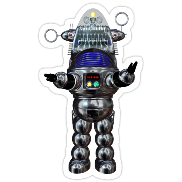 Robbie Robot Sticker by Shanina Conway