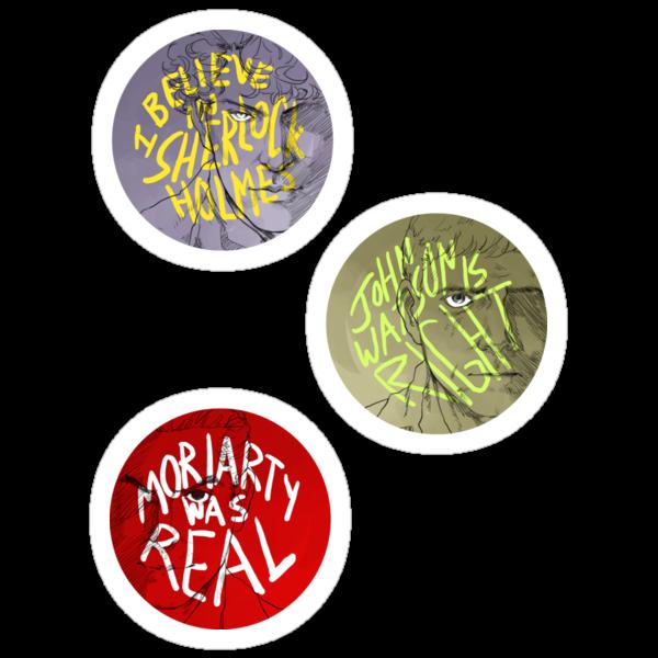 BelieveinSherlock Stickers by reapersun