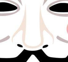 Anonymous mask Sticker