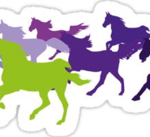 Horses run free Sticker