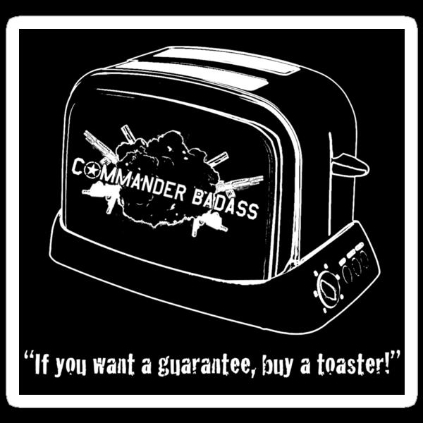 Commander Badass Toaster - Sticker by boomshadow