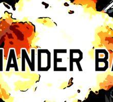 Commander Badass Logo - Black Sticker Sticker