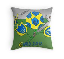 EURO 2012 binary options news cartoon Throw Pillow