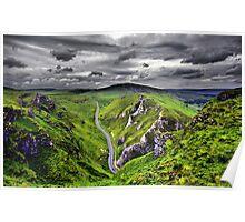 Winnats Pass Derbyshire Poster
