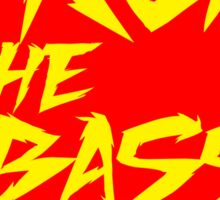 Drop The Bass Shield (red) Sticker