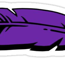 Hooger Booger Feather Purple Sticker