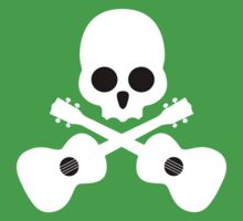 Old Skull Music Guitar Baby Tee