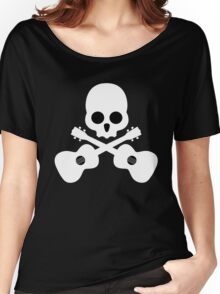 Old Skull Music Guitar Women's Relaxed Fit T-Shirt