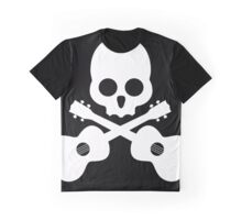 Old Skull Music Guitar Graphic T-Shirt