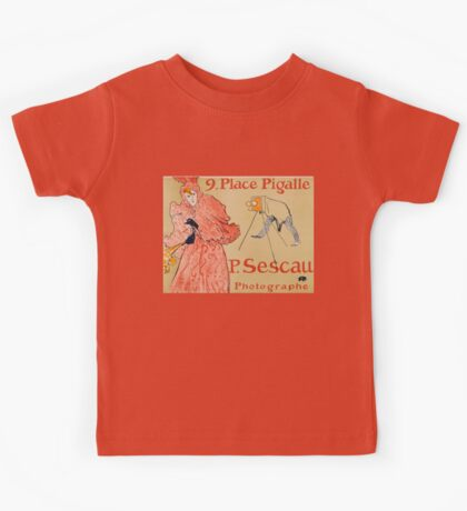 Vintage poster - French photographer Kids Tee