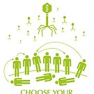 """Worldwide Pandemic Sticker - """"Choose Your End"""" by Thorigor"""