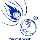 """Asteroid Impact Sticker - """"Choose Your End"""" by Thorigor"""