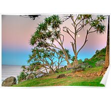 Colours At Sunset - Burleigh Headland Poster