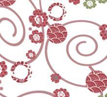 swirly japanese blossoms Sticker