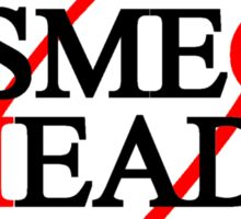 Smeg Head (black font) Sticker