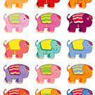 elephant stickers by Sam Van