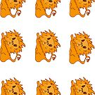 lion stickers by Sam Van