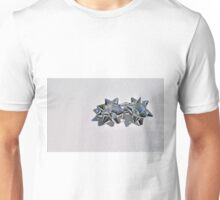 Christmas:  Silver Stars on a Bed of Sparkly Snow T-Shirt
