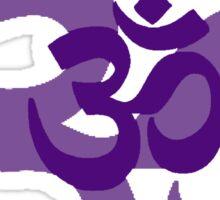 dark purple aum symbol Sticker