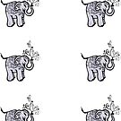 Elephant Mini Stickers by Amy-Elyse Neer