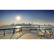Sunrise Midtown Manhattan at the piers in Union City, New York Photographic Print