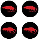 red rat roundel x4 by spackletoe