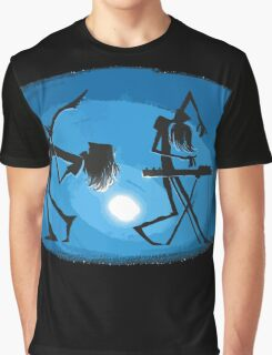 Cool music DJ band - Guitar Synthesizer player Graphic T-Shirt