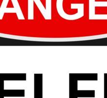 Danger Selfie - Warning Sign Sticker