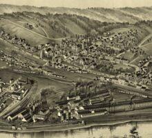 Panoramic Maps Mingo Junction Ohio 1899 Sticker