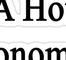 I Married A Hot Economics Teacher Sticker