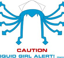 CAUTION Squid Girl Alert! degeso~ by Eniac
