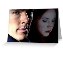 Sherlock and Amy  Greeting Card