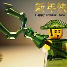 Happy Chinese New Year Greeting Card, with Custom Ching Dynasty Minifig by Customize My Minifig
