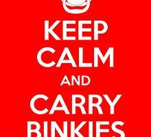 Keep Calm and Carry Binkies Sticker by AngryMongo