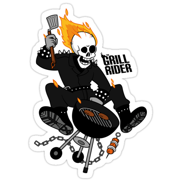 Grill Rider Sticker by Lapuss