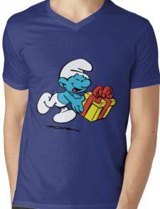 smurf_box Mens V-Neck T-Shirt