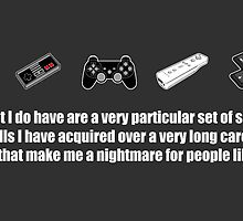 Particular Set of Gaming Skills Sticker by AngryMongo
