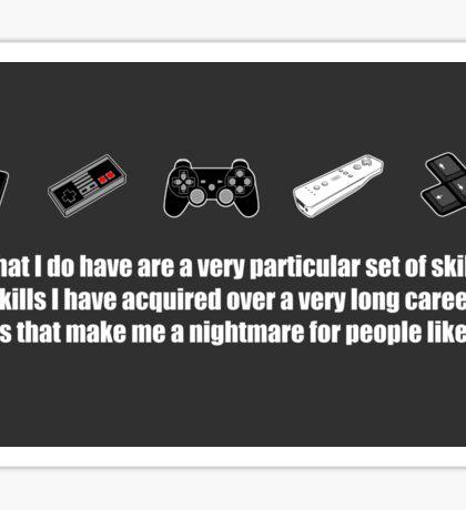Particular Set of Gaming Skills Sticker Sticker