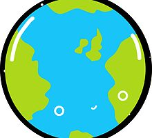 The Earth - Sticker by Sarah Crosby