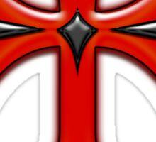 Victorian Design Red Cross Sticker
