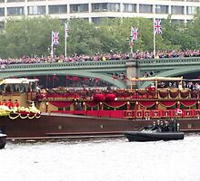 ROYAL BARGE ON THAMES by gothgirl