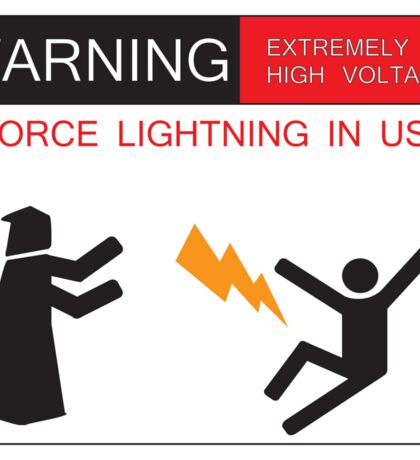Force Lightning In Use Sticker